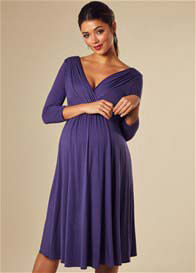 Queen Bee Willow Maternity Dress in Grape by Tiffany Rose
