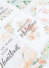 Queen Bee Floral Pregnancy Milestone Cards by Belle and Grace