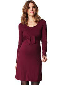 Esprit - Long Sleeved Zip Nursing Dress in Red - ON SALE