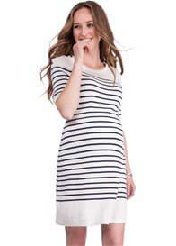 Queen Bee Bex Striped Knit Maternity Nursing Dress by Seraphine
