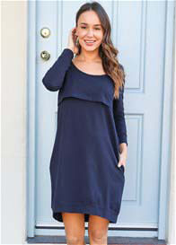 Trimester® - The Mama Journey Dress in Navy
