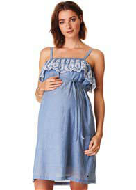 Esprit - Embroidered Ruffle Dress