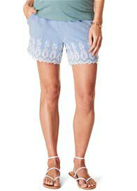 Esprit - Embroidered Cotton Shorts