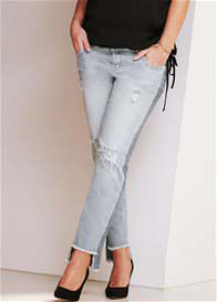 Supermom - Distressed Step Hem Boyfriend Jeans